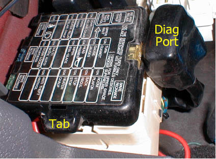 datalogger installation figure 1 locating the diagnostic port